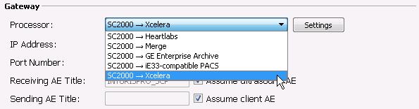 Select gateway profile